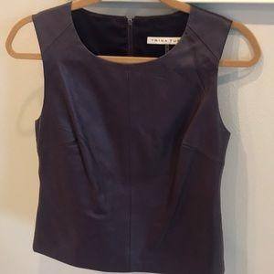 Purple leather top